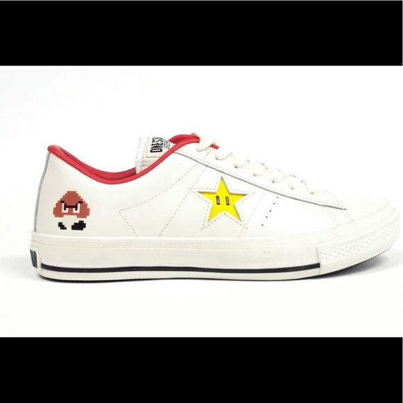 One star low profile shirt super mario black,converse sale